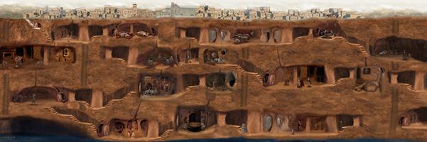 Derinkuyu Yeraltı Şehri Planı