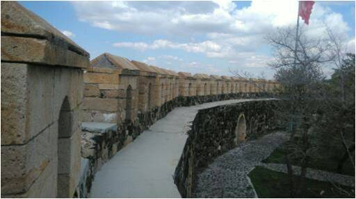 Nevşehir Kalesi Surları seyirdim yolu